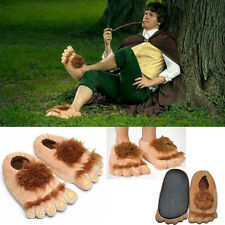 Hobbit Furry Adventure Slippers Slipper Plush Shoes Novelty Unisex Costume Gifts