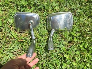 DESMO English Wing  Mirrors, RARE Pair, Right & Left, Spring Loaded, Need Glass