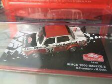 1/43 IXO ALTAYA NEUF TALBOT SIMCA 1000 RALLY 2  N 34 RALLY WRC MONTE CARLO 1973