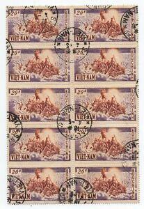 Vietnam 33 Block of Ten, used  .. 2021 Scott=$160.00+