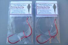 2x Running Surf Rig (80Lb 6/0 hooks) Salmon, Mulloway, Flathead, Tailor, Etc :)