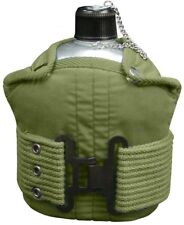 Aluminum 1 Quart Canteen With Cover & Olive Drab Pistol Belt Kit