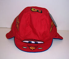 Disney Store Boys Kids Cars Lightning McQueen 95 Warm Fleece Lined Hat Cap New!