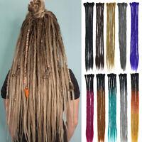 100% Handmade Dreadlocks Crochet Braiding Hair Extensions Braids Dreads Ombre US