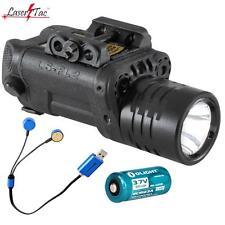 LaserTac FL2GR Red & Green Laser / LED Tactical Flashlight for Pistols, Rifles
