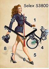 Publicité, Vintage, Velo Solex en Horloge murale -02hm