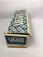 Vintage Empty Vans shoe box blue Orange California 9 1/2 1980's or 1990's ?