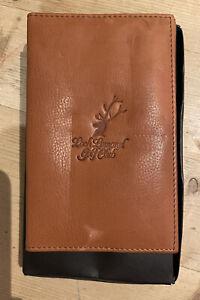 Loch Lomand Golf Club Score Card Holder Full Grain Tan Leather Embossed Logo