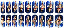 Nail Art Decal Wrap- Wonder Woman- easy to use on any colour nail.295