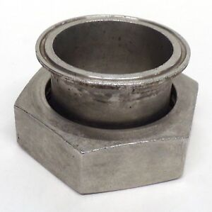 """CLAMP ADAPTER CLAMP X PLAIN BEVEL SEAT ADAPTER W/HEX NUT 2-1/2"""", SANITARY SS"""
