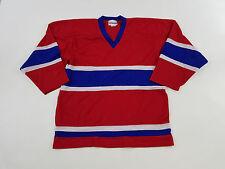 VTG 1970s Throwback TREMARK Montreal Canadians NHL Hockey Blank Jersey Vintage