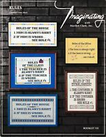 Rules Samplers Charted Cross Stitch | Imaginating with Marilyn Clark VII