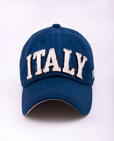 NM458 Blue Men Cute Cotton Baseball Cap Buckle-back Sports Sun Hat Letters ITALY