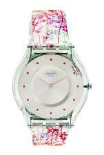 Swatch SFE102 Jardin Fleuri Silver Sun-Brushed Dial  SKIN Unisex Watch