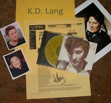 KD LANG Autographed Photo RP & Photos Also INGENUE CD Very Collectible