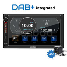 """7"""" 2 DIN DAB+ RDS AM FM Car Stereo MP5 Player Bluetooth 2 USB SD AUX IN + Camera"""
