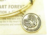 Wind and Fire In My Heart Forever Charm Gold Wire Stackable Bangle Bracelet Gift