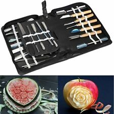 Agile Shop Culinary Carving Tool Set Fruit Vegetable Food Garnishing Cutting