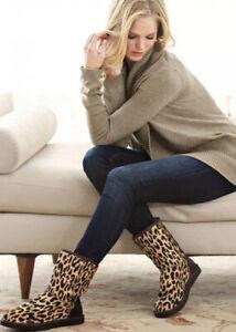 UGG Classic Short Cheetah Pony Hair Women Boots Size 9