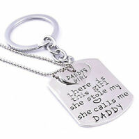 Daddy & Daughter Keyring & Necklace Combo I Love you Perfect Gift A190