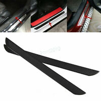 2XCar Door Sill Plate Guard Protector Cover Carbon Fiber Trim for Toyota Nissan