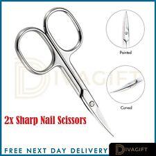 Professional Finger Toe Nail Scissors CURVED ARROW Steel Manicure Cuticle NAIL