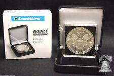 1 ASE American Silver Eagle QUADRUM INTERCEPT 2x2 Coin Holder Snap + Display Box
