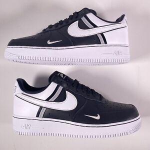 Nike Air Force 1 07 LV8 2 Men's Sz 9.5 Casual Shoes Black White CI0061-001