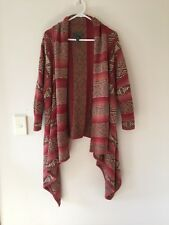 Womens Ralph Lauren Linen & Silk Waterfall Cardigan Jumper Multi-Colour Size XL