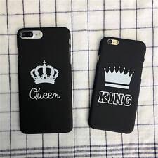 Ultra slim King Queen regina cover custodia PC rigida opaca per iphone 6s 7 plus