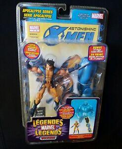 Marvel Legends X-Men WOLVERINE Unmasked Variant + BAF Apocalypse Left Leg