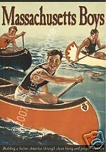 Massachusetts Boys - Vintage 50s Styl Pulp Movie Poster