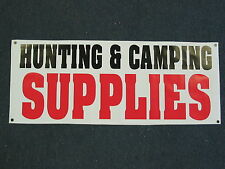 HUNTING & CAMPING SUPPLIES BANNER Sign High Quality NEW 4 Hunt Fish Boating Camp