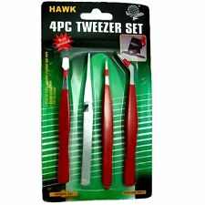 HAWK S8631P - 4 Piece Electronics PVC Dip Coated Tweezers Chrome plated