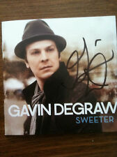 Gavin DeGraw  SWEETER cd signed in person autographed by Gavin