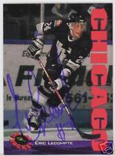 ERIC LECOMPTE Hull Olympiques 1994 CLASSIC   AUTOGRAPHED HOCKEY CARD JSA