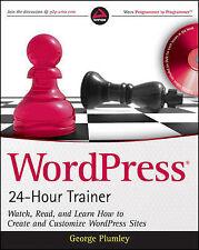 WordPress 24-Hour Trainer (Book & DVD)-ExLibrary