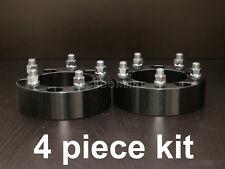 "(4) 2"" Black 5x5.5 to 5x5.5 Wheel Spacers - 9/16"" Studs - Dodge Dakota Durango"