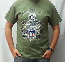 MAGLIETTA VERDE US ARMY TAGLIA XXL SIZE T-SHIRT AMERICAN SOLDIER TESCHIO USA 2XL