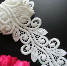 1yard White Flower Embroidered Fabric Lace Trim Ribbon DIY Sewing Supplies Craft