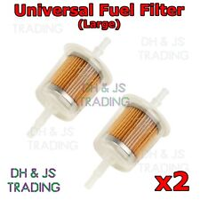 2 x Petrol Inline Fuel Filter Universal fit - LARGE Car Part Fit 6mm & 8mm Pipe