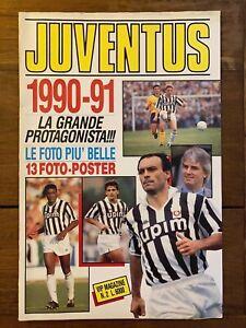 JUVENTUS  1990 - 91 - Vip magazine 2 - Formato gigante Foto + Poster - R. Baggio