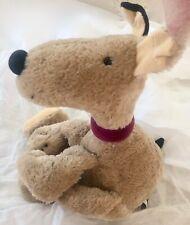 "JELLYCAT Retired 2000 Plush Dog Puppy Brown Spot Stuffed Animal 10"" Tall"