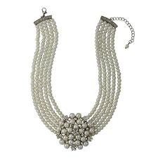 Audrey Hepburn Pearl & Diamante Necklace (Cream)