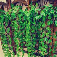 2.5M Hanging Artificial Leaf Ivy Vine Plant Fake Foliage Green Home Garden Decor