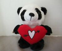 "NWT HUGme Round Animal Panda Plush Stuffed holding Ice Cream Cone 11/"" Valentine"