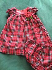 Vintage Laura Ashley Girls Tartan Dress and Pants Age 18 months