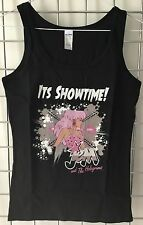 Jem And The Holograms Black Tank Top Sleeveless T-Shirt Size S UK 6 - 8 1980's