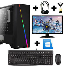 Gamer PC Komplett-Set Ryzen 2200G 4x 3,7 Ghz Vega 8 SSD 256GB 8GB RAM Win10