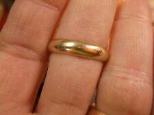 NICE OLDER VTG MEN'S 14k YELLOW GOLD 4.5mm WIDE WEDDING BAND RING, US SIZE 10.5